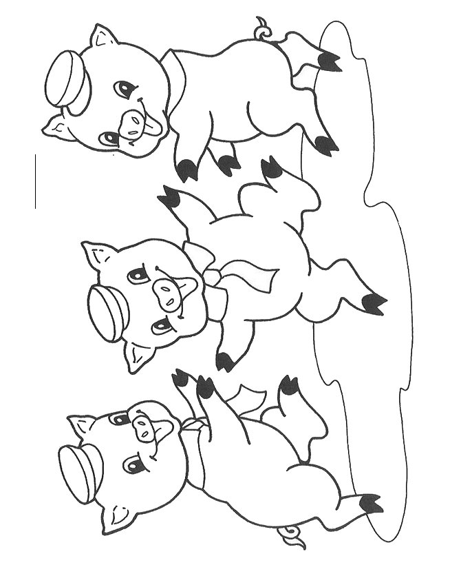 little pig coloring pages - photo#7