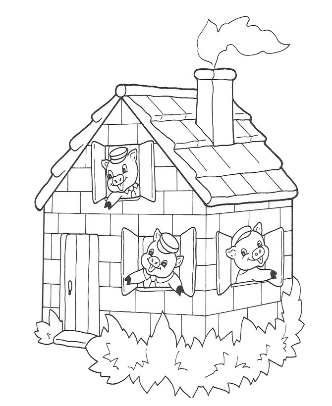 little house coloring pages - photo#14