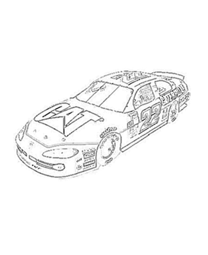 nascar 22 coloring pages - photo#3