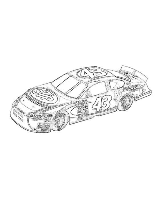 printable nascar coloring pages 3 - photo#18